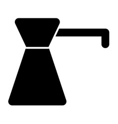 Coffee turk solid icon coffee pot vector