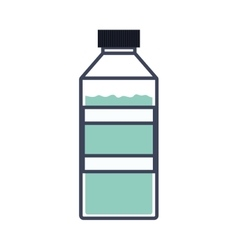 colorful silhouette of bottle with water vector image