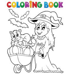 Coloring book halloween image 2 vector