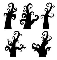 Crooked Spooky Trees2 vector