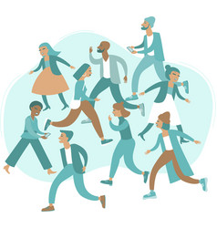 Crowd stressed people vector