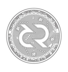 Crypto currency decred black and white symbol vector