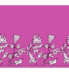 design flowers and ornaments floral vector image vector image