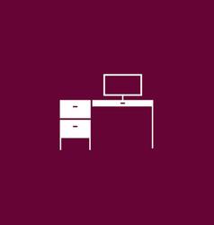 Desk icon simple vector