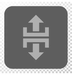 Divide Vertical Direction Rounded Square Button vector