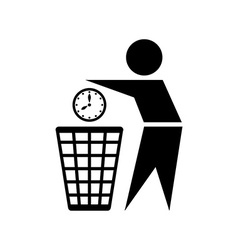 Do not waste time icon vector