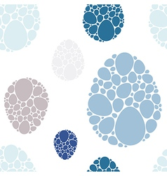 Easter eggs blue seamless pattern vector image