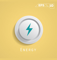 Energy circle icon vector