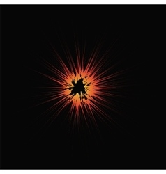 Explode Flash Cartoon Explosion Star Burst vector image
