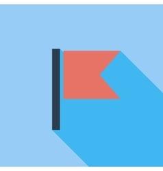 Flag single flat icon vector