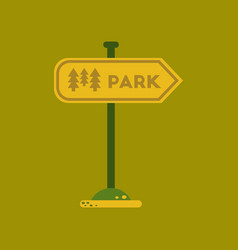 Flat icon on background park sign vector