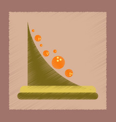 Flat shading style icon mountain rocks vector