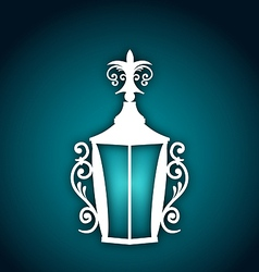Forging lantern for ramadan kareem vector