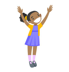 full length of african-american girl standing vector image