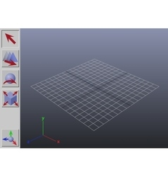Generic 3D application interface vector image