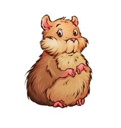 Hamster in cartoon style vector