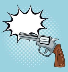 Handgun pop art vector