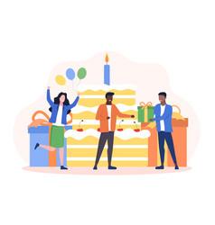 happy birthday celebration party concept vector image