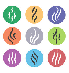 Heat steam icons vector
