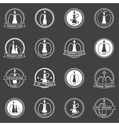 Hookah store icons set vector image