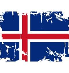 Icelandic grunge flag vector image vector image