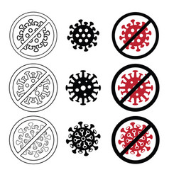 Icon covid-19 sign and symbol vector