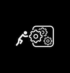 Integration innovation icon flat design vector
