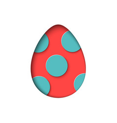 Isolated egg in paper cut style for banner vector