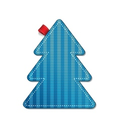 Knitted pine tree vector image