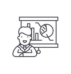 marketing director line icon concept marketing vector image
