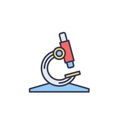 microscope concept colored creative icon vector image