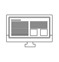 monitor screen computer device page web vector image