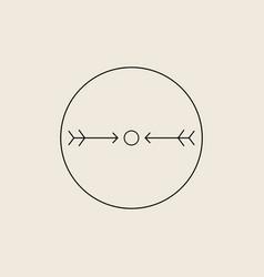 Native american symbols arrows protection sign vector