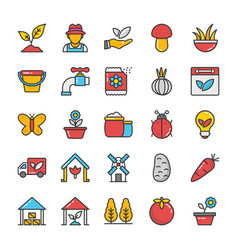 Nature colored icons set 4 vector