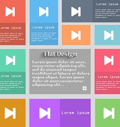 Next track icon sign Set of multicolored buttons vector
