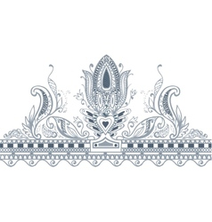 Part border paisley style vector image