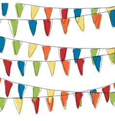 pennant vector image
