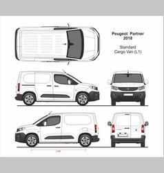 Peugeot partner cargo standard van l1 2018 vector
