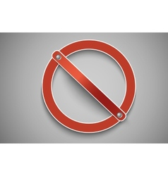 Prohibition sign red vector