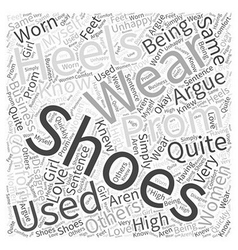 Prom shoes Word Cloud Concept vector