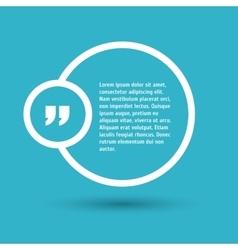 Quote modern template on background vector