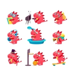 Red Dragon Everyday Business vector image