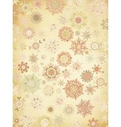 Retro Snowflakes card background EPS 8 vector