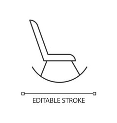 Rocking chair linear icon vector