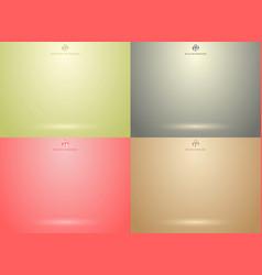 set of studio room green red gray brown vector image