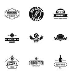 Splendid logo set simple style vector