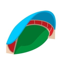 Sports stadium with canopy cartoon icon vector image
