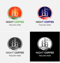 Tea and coffee logo template vector