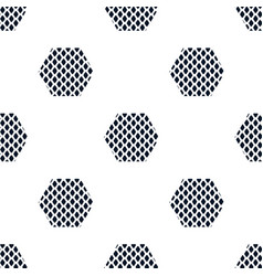 Textured rhombuses blue seamless pattern vector