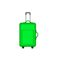 Travel suitcase in green design vector